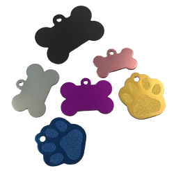 Pet Tags, Paw & Bone Bundle Pack (Pack of 20)