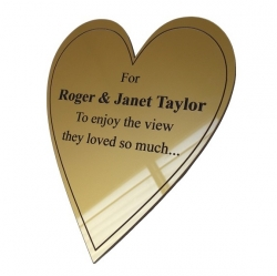 Gloss Gold External Plaque