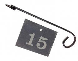 Slate Engraved Label with Label Hanger