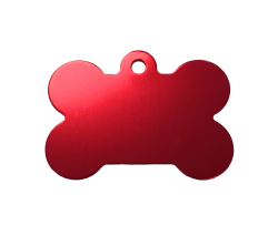 Pet Tags, XL Bone, Anodised Aluminium (Pack of 10)