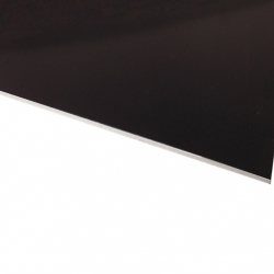 Micro Laminate Matt Black Surface, White Base