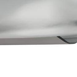Laserfoil Bright Silver Surface, Black Base