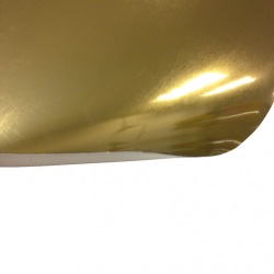 Laserfoil Brushed Gold Surface, Black Base