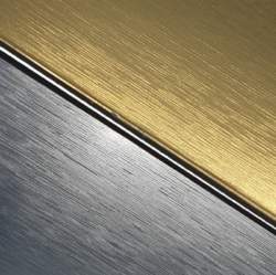 External Laminate 3ply Brushed Gold/Black/Brushed Silver 1.5mm