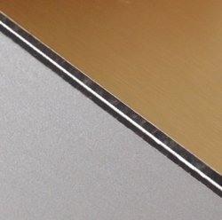 Abet Hard Engraving Laminate (Brushed) Gold/Black/(Matt) Silver