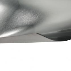 Laserfoil Brushed Silver Surface, Black Base