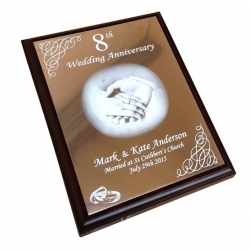 Copper Trophy Aluminium Anniversary Plaque