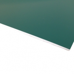Micro Laminate Matt Dark Green Surface, White Base