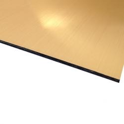 Flexline Laser Laminate European Gold Surface, Black Base