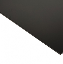 Laserable Anodised Aluminium Sheet, Gloss Black