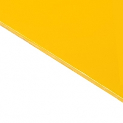 Reverse Laminate Gloss Clear Surface, Yellow Base