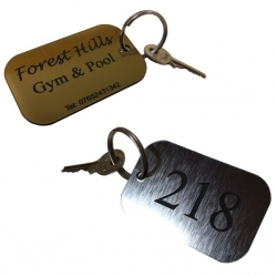 Gold/Black/Silver External Keyring