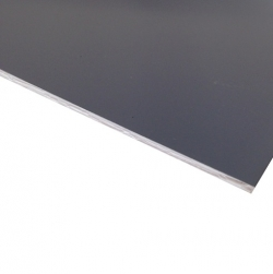 Flexline Laser Laminate Grey Surface, White Base