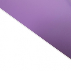 External Laminate Matt Lilac Surface, White Base 1.5mm