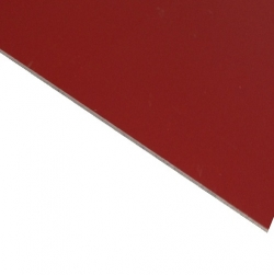 Laserable Anodised Aluminium Sheet, Matt Red