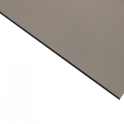 External Laminate Matt Silver Surface, Black Base 1.6mm