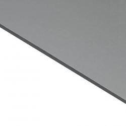 Reverse Laminate Matt Clear Surface, Silver Base