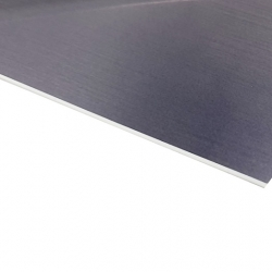 Flexline Laser Laminate Metallic Grey Surface, White Base