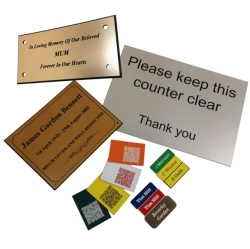 Range of Engraved Micro Labels and Signs