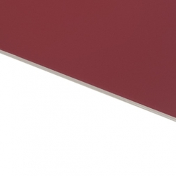 Flexline Laser Laminate Burgundy Surface, White Base