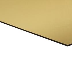 Flexline Laser Laminate High Gloss Gold Surface, Black Base