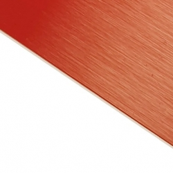 Brushed (Satin) Laminate Red Surface, White Base