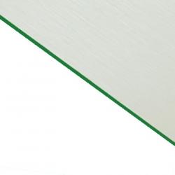 Brushed (Satin) Laminate White Surface, Green Base