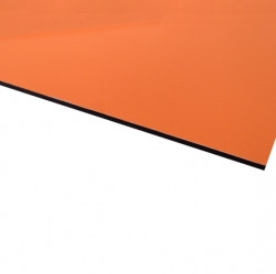 Flexline Laser Laminate Matt Orange Surface, Black Base
