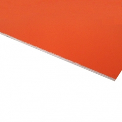 Micro Laminate Matt Orange Surface, White Base