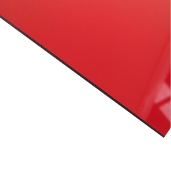 External Laminate Gloss Red Surface, Black Base 1.5mm