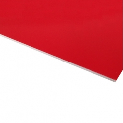 Flexline Laser Laminate Matt Red Surface, White Base