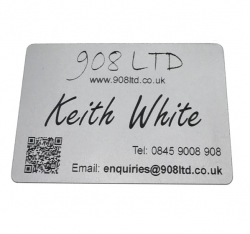 Silver Aluminium Business Cards, Blank