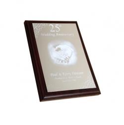 Bright Silver Trophy Aluminium Anniversary Plaque