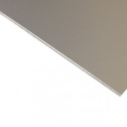 Anodised Aluminium Sheet, Silver Satin