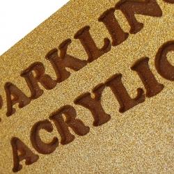 Glitter Gold Acrylic Laser Engraved