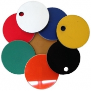 Plastic Discs with Hole, 25mm (20 Pack)