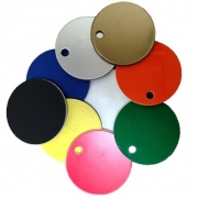 Plastic Discs with Hole, 38mm (20 Pack)