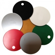 Plastic Discs with Hole, 51mm (20 Pack)