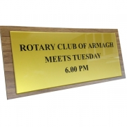 Gloss Gold Reverse Sign Infilled with Black Acrylic Paint