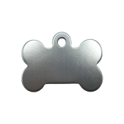 Pet Tags, Medium Bone, Anodised Aluminium (Pack of 10)