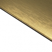 External Laminate Brushed Gold Surface, Black Base