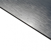 External Laminate Brushed Silver Surface, Black Base