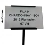 Plant Label with Black Metal Label Holder