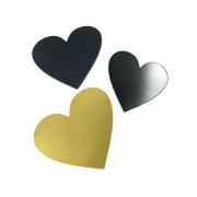 Trophy Plate Hearts