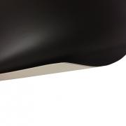 Laserfoil Matt Black Surface, White Base