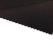 Micro Laminate Matt Black Surface, White Base