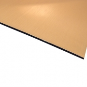 Flexline Laser Laminate Brushed Gold Surface, Black Base