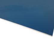 Micro Laminate Matt Deep Blue Surface, White Base