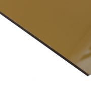 External Laminate Gloss Gold Surface, Black Base