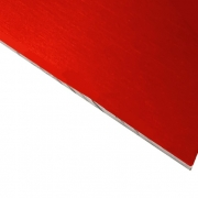 Laserable Anodised Aluminium Sheet, Gloss Red, AA15